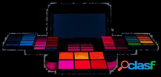 Mya cosmetics paleta 54 sombras 6 cores + 6 pós + 8 batom