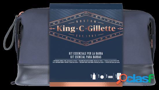 Gillette kit de gel de limpeza para barba + bálsamo de limpeza + pente