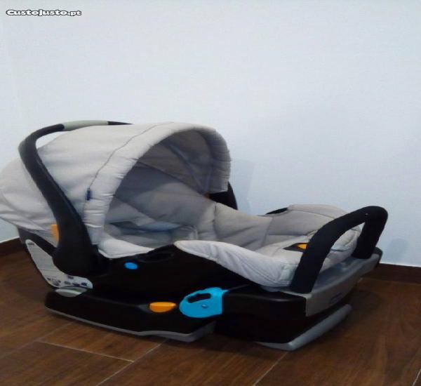 Cadeira auto chicco keyfit, com base, cinzenta