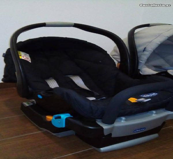 Cadeira auto chicco keyfit, com base, preta