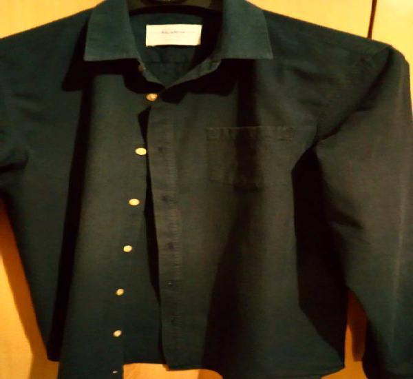 Camisa homem azul escuro tamanho s pull&bear