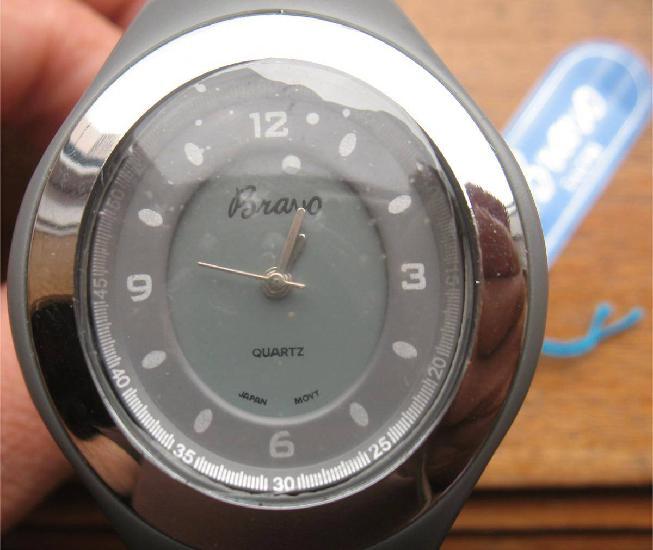 Relógio bravo desportivo -movimento japonês-cinza