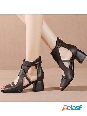 Women's fashion thick heel sandals