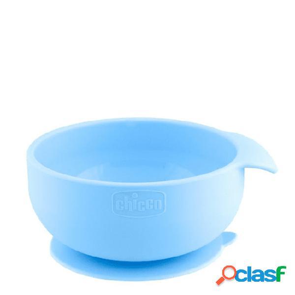 Chicco tigela silicone azul 6m+