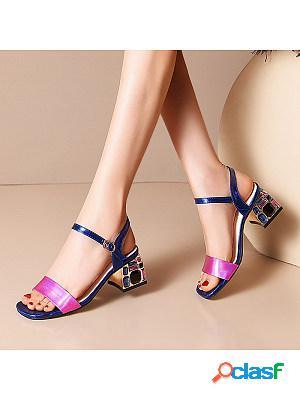 Women's fashion buckle heel sandals
