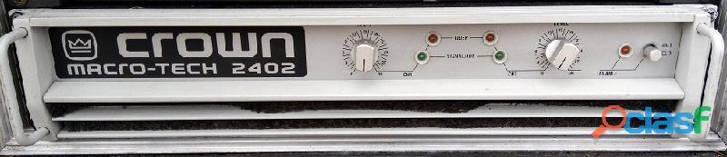 Amplificador de potência Crown MA 2402