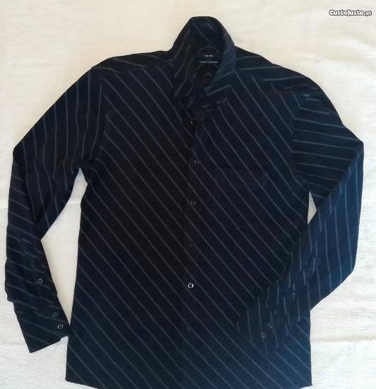 Camisa homem cortefiel de manga comprida corduroy collection