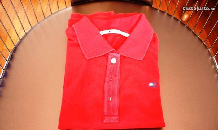 Polo vermelho tommy hilfiger t.s