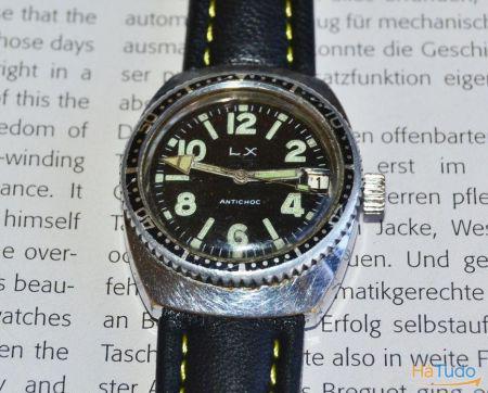 Relógio de pulso marca lx - à prova de água - anos 70