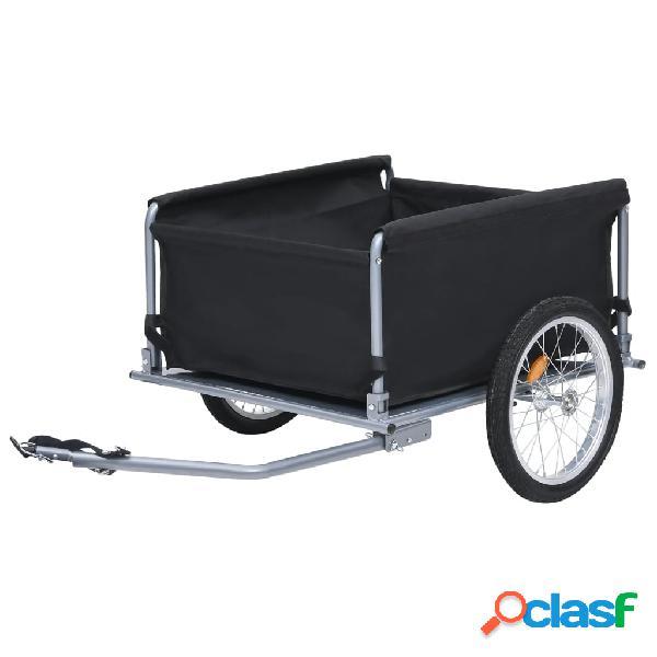 vidaXL Reboque de carga para bicicleta 65 kg preto e cinzento 1