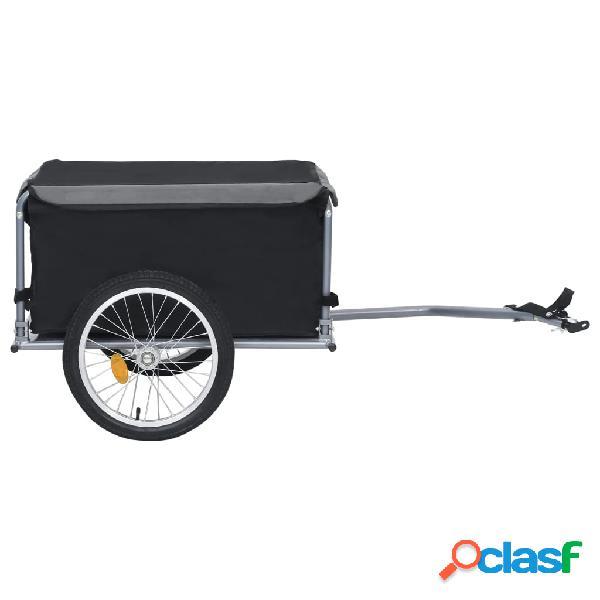 vidaXL Reboque de carga para bicicleta 65 kg preto e cinzento 2