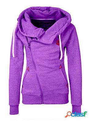 Hooded zips plain long sleeve hoodies