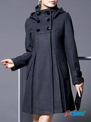 Fashion slim woolen casual cloak coat