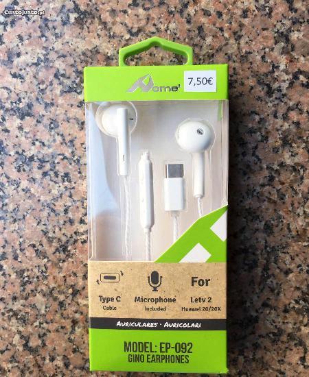 Auriculares com conector type-c / type-c earphones