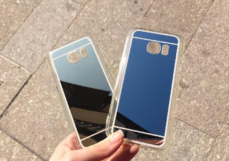 Capa de silicone espelhada para samsung s7 - novo