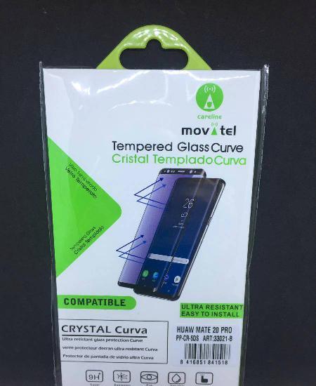 Película vidro temperado curva huawei mate 20 pro