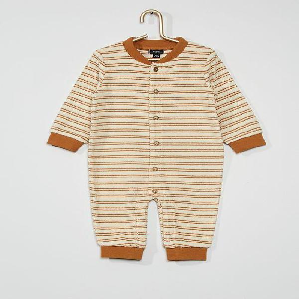 Macacão menino 0-36 meses - bege - kiabi - 10,00€