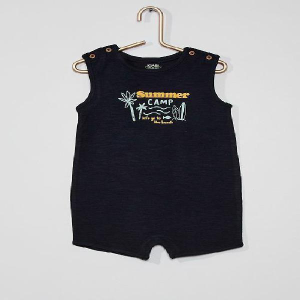 Macacão curto com estampado 'surf' menino 0-36 meses - azul