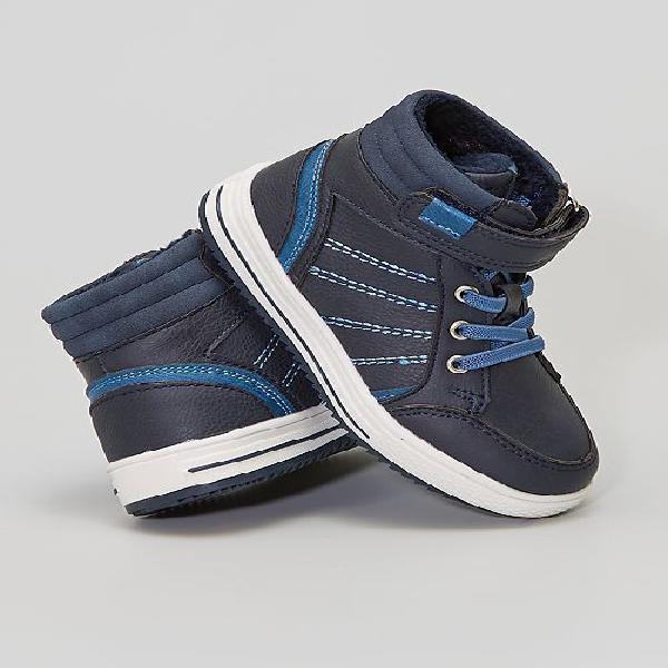 Botas tipo ténis forradas menino 3-12 anos - azul - kiabi -
