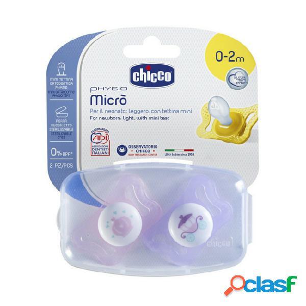 Chicco physio micro chupeta silicone rosa 0-2m 2unid.