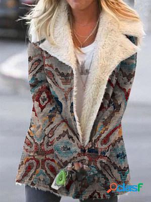 Fall/winter casual vintage print jacket