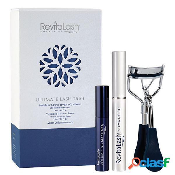 Revitalash ultimate lash trio pack condicionador + máscara pestanas + curvex 3.5+3ml+1unid.