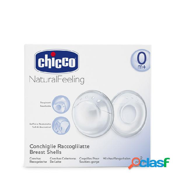 Chicco natural feeling conchas coletoras de leite 2unid.