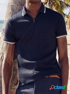 Striped casual polo shirt