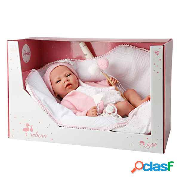 Boneca reborn elena rosa 40cm