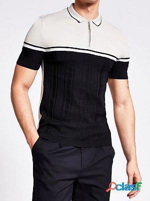 Black muscle slim knit shirt